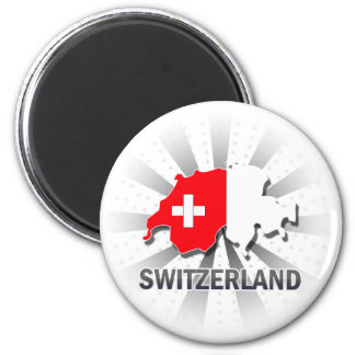 Switzerland Flag Map 2.0 Magnet