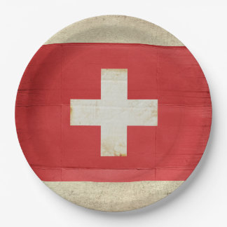 Switzerland Flag Paper Plates