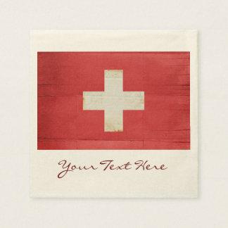 Switzerland Flag Party Napkins Paper Napkin