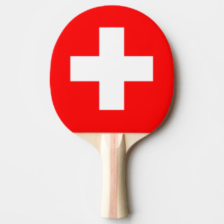 Switzerland Flag Ping Pong Paddle