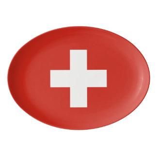Switzerland Flag Porcelain Serving Platter