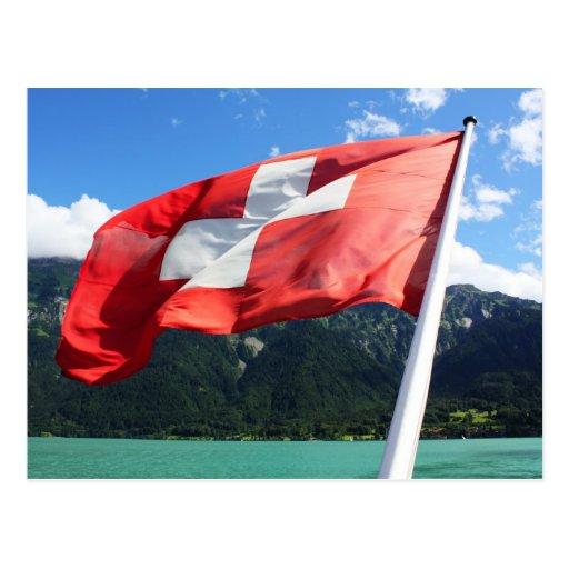 Switzerland flag postcards