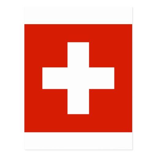 Switzerland Flag Post Card