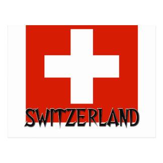 Switzerland Flag Post Cards