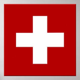 Switzerland Flag Poster in 3D