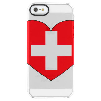 Switzerland Flag Simple Clear iPhone SE/5/5s Case