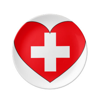 Switzerland Flag Simple Plate