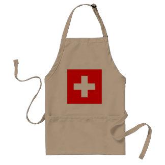 Switzerland Flag Standard Apron