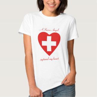 Switzerland Flag Sweetheart T-Shirt