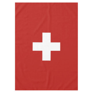 Switzerland flag tablecloth