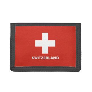 Switzerland Flag TriFold Nylon Wallet