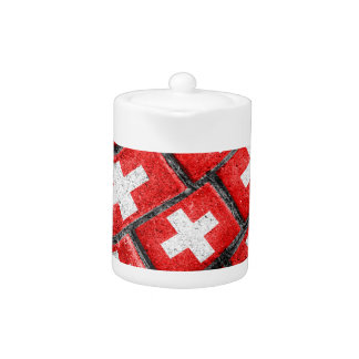 Switzerland Flag Urban Grunge Pattern
