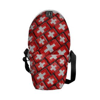 Switzerland Flag Urban Grunge Pattern Commuter Bags