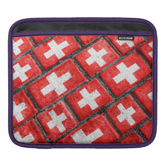 Switzerland Flag Urban Grunge Pattern iPad Sleeve