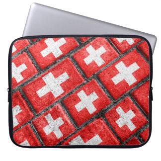 Switzerland Flag Urban Grunge Pattern Laptop Sleeve