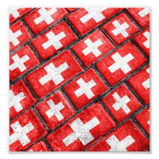 Switzerland Flag Urban Grunge Pattern Photo Print