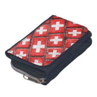 Switzerland Flag Urban Grunge Pattern Wallets