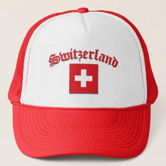 Switzerland Flag (w/inscription) Trucker Hat