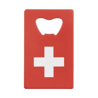 Switzerland Flag Wallet Bottle Opener