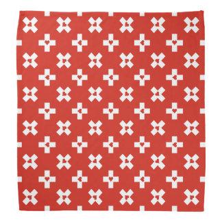 Switzerland Flag with  Heart pattern Bandana