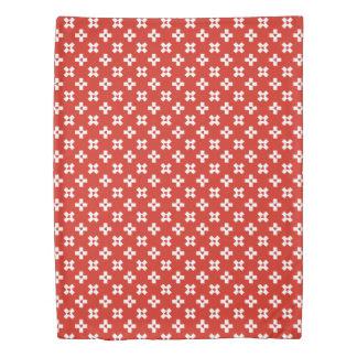 Switzerland Flag with  Heart pattern Duvet Cover