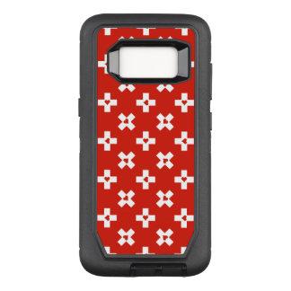 Switzerland Flag with  Heart pattern OtterBox Defender Samsung Galaxy S8 Case