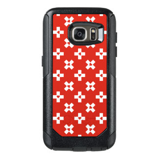 Switzerland Flag with  Heart pattern OtterBox Samsung Galaxy S7 Case