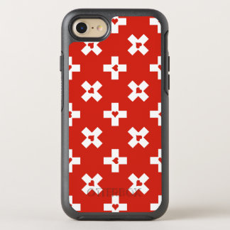 Switzerland Flag with  Heart pattern OtterBox Symmetry iPhone 8/7 Case