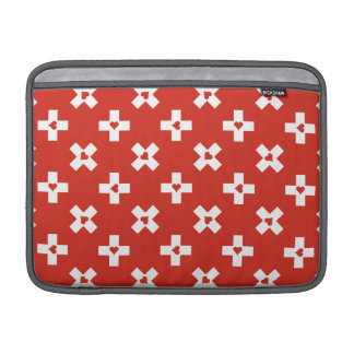 Switzerland Flag with  Heart pattern Sleeve For MacBook Air