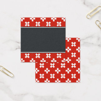 Switzerland Flag with  Heart pattern Square Business Card