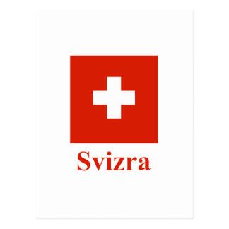 Switzerland Flag with Name in Raeto-Romance Postcard