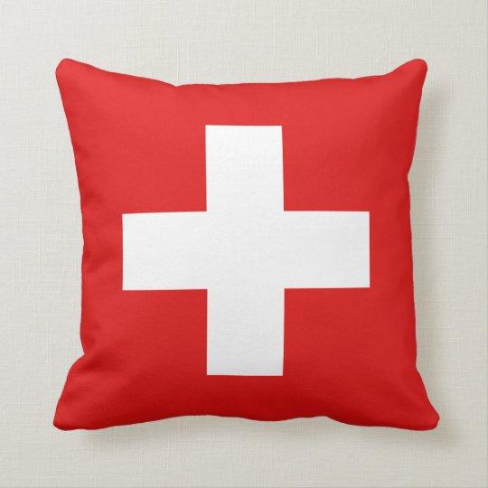 Switzerland Flag x Flag Pillow