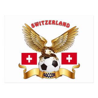 Switzerland Football Designs Post Cards