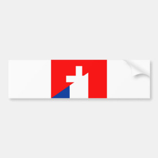 switzerland france flag country half symbol swiss bumper sticker