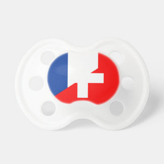switzerland france flag country half symbol swiss pacifier