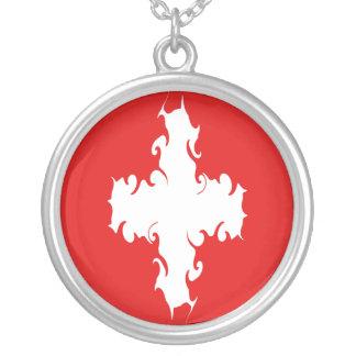 Switzerland Gnarly Flag Custom Necklace
