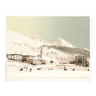 Switzerland in winter postcard
