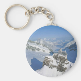 Switzerland, Jungfraujoch, top of Europe Basic Round Button Keychain