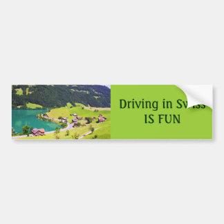 Switzerland landscape car bumper sticker