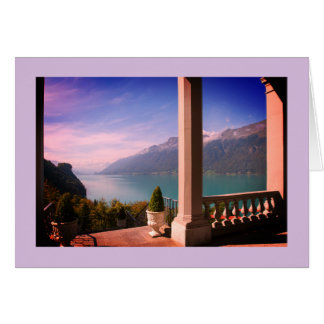 Switzerland landscape greeting card