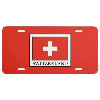 Switzerland License Plate