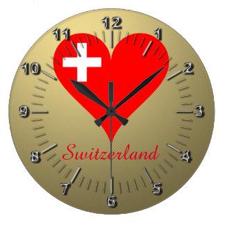 Switzerland love heart wallclock