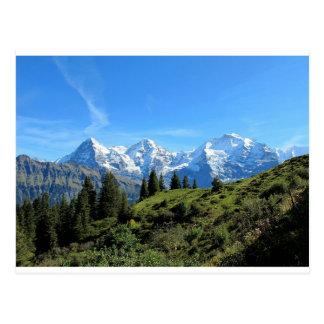 Switzerland Majestic Beautiful Mountains Postcard