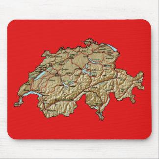 Switzerland Map Mousepad