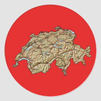 Switzerland Map Sticker