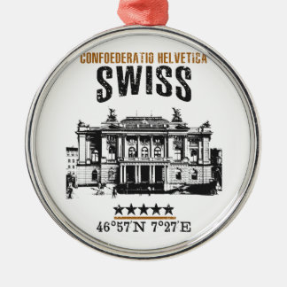 Switzerland Metal Ornament