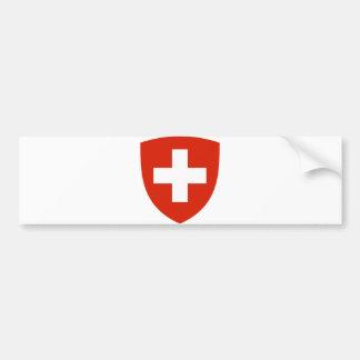 Switzerland Official Coat Of Arms Heraldry Symbol Bumper Sticker