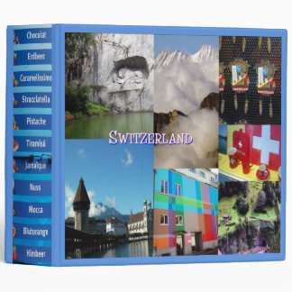 Switzerland Photo Collage Vinyl Binders