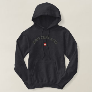 Switzerland Pullover Hoodie With Swiss Flag