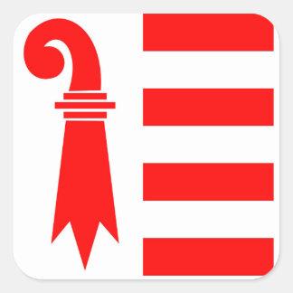 switzerland region canton jura flag square sticker